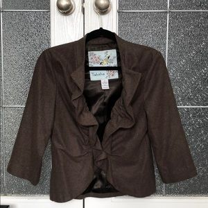 Anthropologie blazer with 3/4 length sleeve